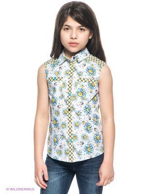 Блузка PELICAN. Цвет: белый, черный, желтый