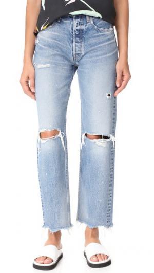 Широкие прямые джинсы MV Odessa MOUSSY. Цвет: голубой