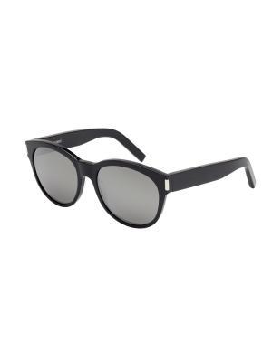 Солнцезащитные очки Saint Laurent. Цвет: прозрачный, черный
