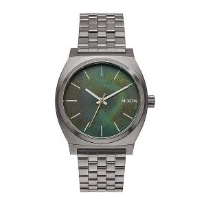 Часы  Time Teller Gunmetal/Green Oxyde Nixon. Цвет: серый