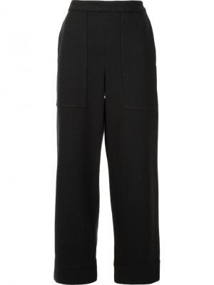 Укороченные брюки Lemaire. Цвет: серый