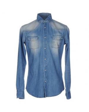 Джинсовая рубашка BRIAN DALES. Цвет: синий
