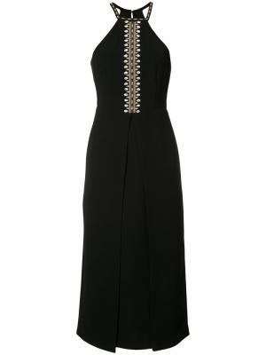 Платье с вышивкой в виде ракушек Yigal Azrouel. Цвет: чёрный