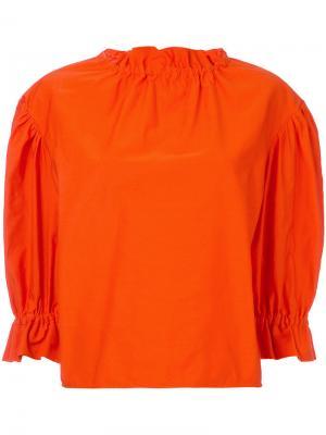 Блузка с оборками Atlantique Ascoli. Цвет: жёлтый и оранжевый
