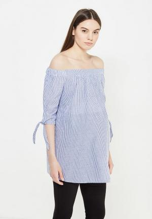 Блуза Dorothy Perkins Maternity. Цвет: голубой