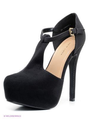 Туфли New Look. Цвет: черный