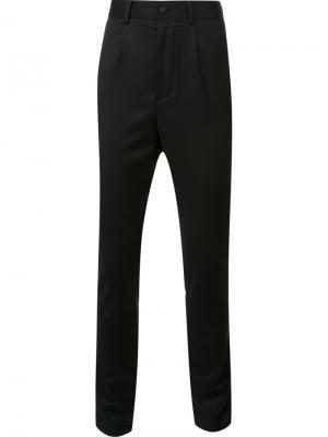 Зауженные брюки D.Gnak. Цвет: чёрный