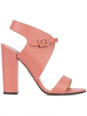 Buckled sandals Paul Andrew. Цвет: розовый и фиолетовый