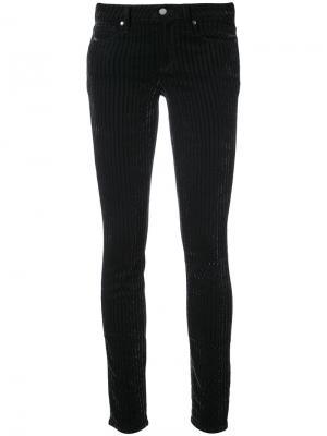 Полосатые джинсы скинни Paige. Цвет: чёрный
