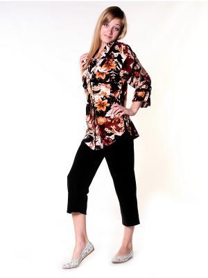 Велюровый костюм Тефия. Цвет: черный, терракотовый, коричневый, оранжевый, кремовый, белый