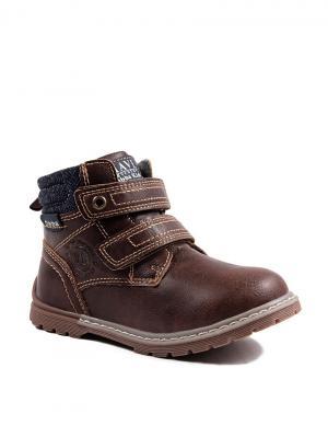 Ботинки Obba. Цвет: коричневый