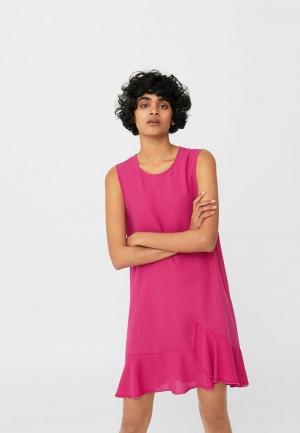 Платье Mango. Цвет: розовый