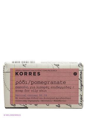 Мыло для лица, 125г. Korres. Цвет: белый, черный