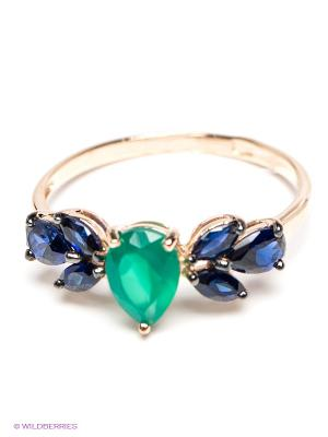 Кольцо SOKOLOV. Цвет: синий, зеленый