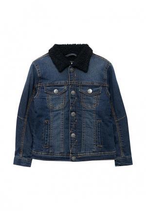 Куртка джинсовая Piazza Italia. Цвет: синий