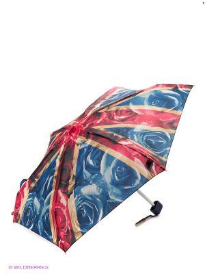 Зонт женский механика Fulton. Цвет: синий, красный