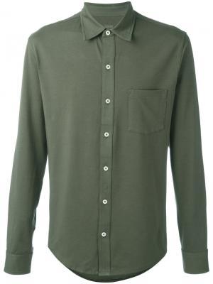 Рубашка с накладным карманом Closed. Цвет: зелёный