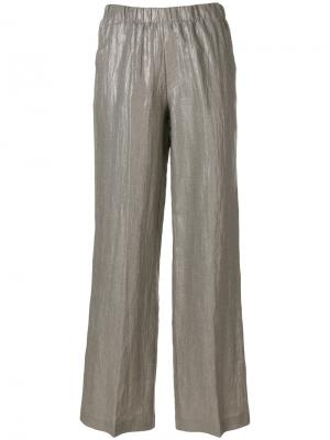Metallic flared trousers Kiltie. Цвет: серый