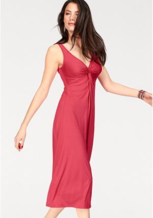 Платье VIVANCE. Цвет: коралловый, черный