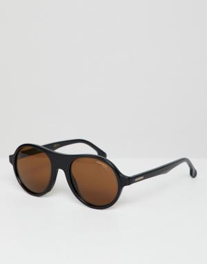 Carrera Солнцезащитные очки в круглой оправе. Цвет: черный