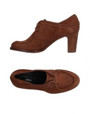 Обувь на шнурках ZINDA. Цвет: коричневый