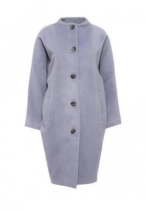 Пальто Voielle. Цвет: фиолетовый