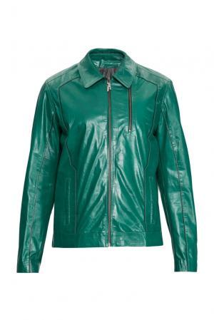 Кожаная куртка 154900 Franko Armondi. Цвет: зеленый