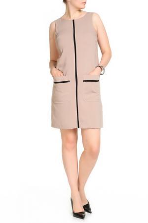 Платье Marks & Spencer. Цвет: коричневый