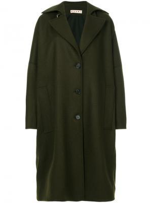 Пальто оверсайз на пуговицах Marni. Цвет: зелёный