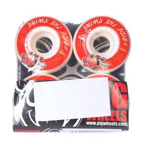 Колеса для скейтборда  #ride Red 101A 51 mm Pig. Цвет: белый,красный