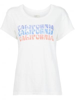 Футболка с принтом California Current/Elliott. Цвет: белый