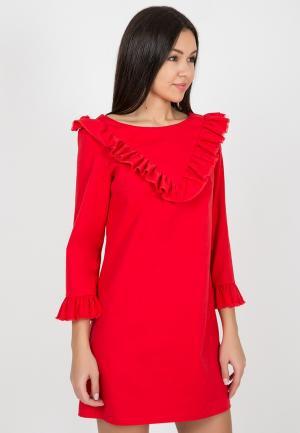 Платье джинсовое Madlen. Цвет: красный