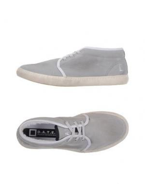 Низкие кеды и кроссовки D.A.T.E.. Цвет: серый