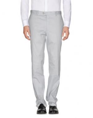 Повседневные брюки ANGELO NARDELLI. Цвет: светло-серый