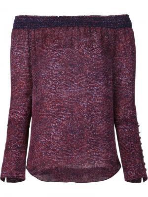 Блузка с открытыми плечами Derek Lam 10 Crosby. Цвет: красный