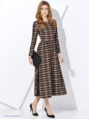 Платье Джули CLABIN. Цвет: коричневый, бордовый