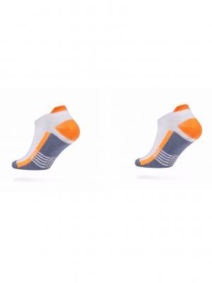 Носки ACTIVE 16С-72СП, 2 пары DiWaRi. Цвет: серо-голубой, оранжевый