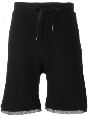 Layered shorts D.Gnak. Цвет: чёрный