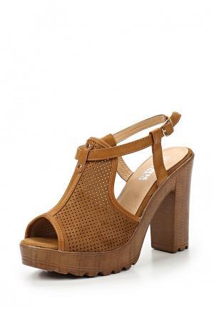 Босоножки Max Shoes. Цвет: коричневый