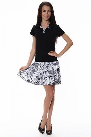 Платье тенис Love & Light. Цвет: черный, белый