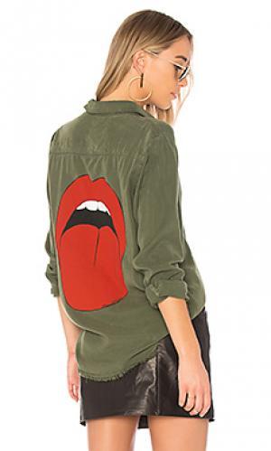 Рубашка sloane Lauren Moshi. Цвет: зеленый
