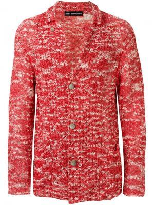 Трикотажный кардиган Issey Miyake Vintage. Цвет: розовый и фиолетовый