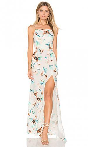 Вечернее платье moss STONE_COLD_FOX. Цвет: белый