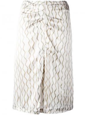 Юбка с разрезом Isabel Marant. Цвет: телесный
