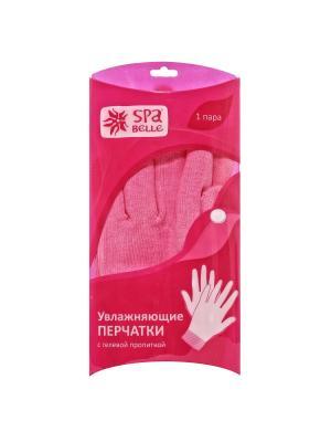 Увлажняющие перчатки с гелевой пропиткой Spa belle. Цвет: розовый