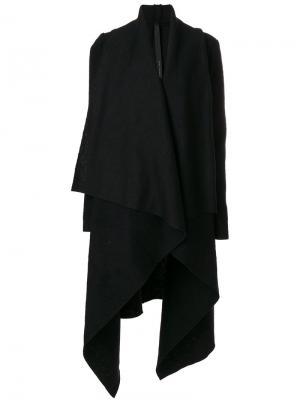 Асимметричное пальто с драпировкой Poème Bohémien. Цвет: чёрный