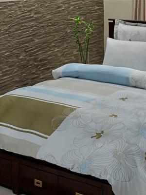 Постельное Белье Ozdilek Бамбук. Цвет: голубой, бежевый, белый