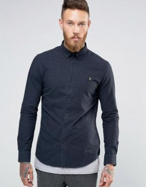 Farah Темно-синяя оксфордская рубашка. Цвет: темно-синий