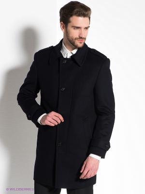 Пальто Donatto. Цвет: темно-синий