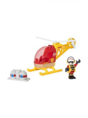 Спасательный вертолет,груз,фигурка,19х9х13см,кор. BRIO. Цвет: прозрачный